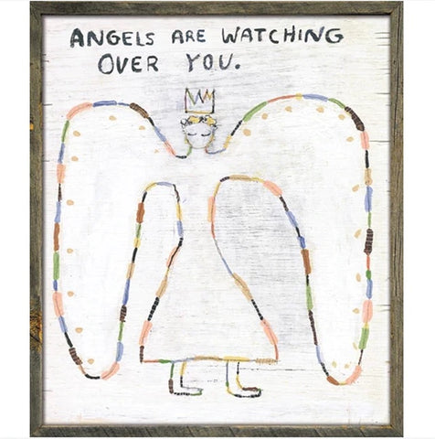 Angels Are Watching Art Print