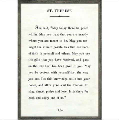 St. Therese - Book Collection Art Print