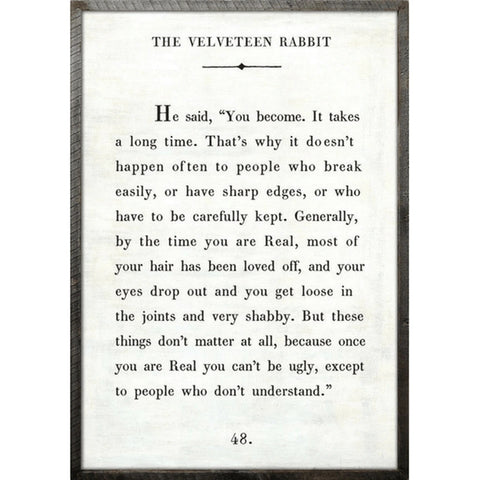 The Velveteen Rabbit - Book Collection Art Print