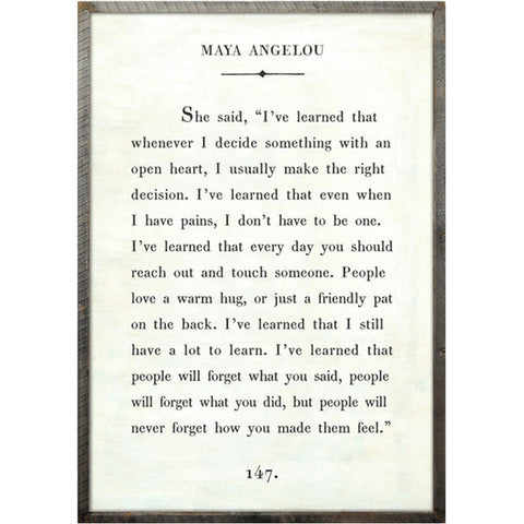 Maya Angelou - Book Collection Art Print