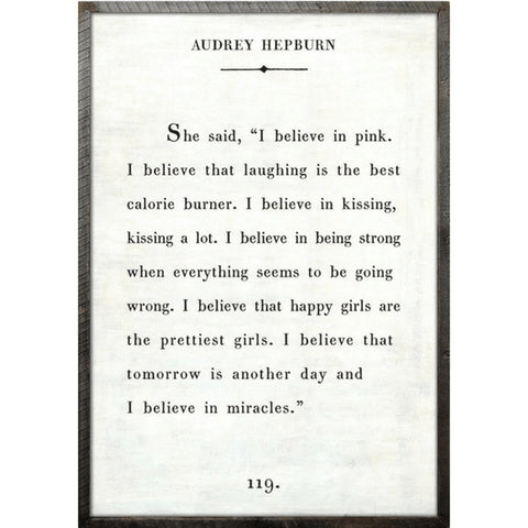 Audrey Hepburn - Book Collection Art Print