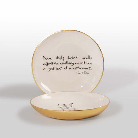 Bowl With Quote - David Bowie