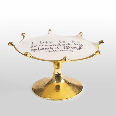 Freddie Mercury - Cake Stand with Quote
