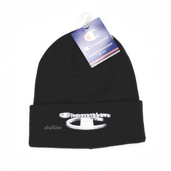 Supreme x Champion Metallic Logo Beanie (Black)