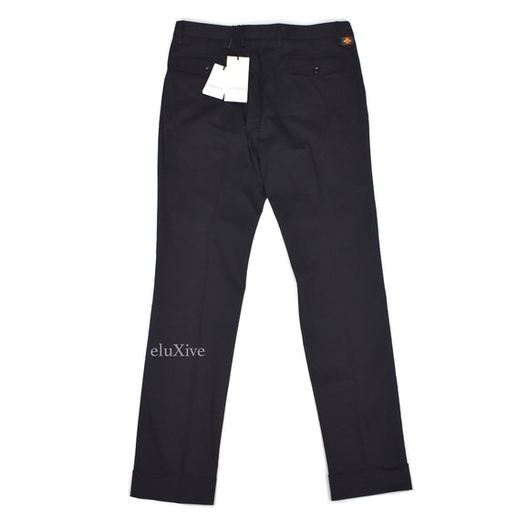 Gucci - Black Bee Logo Tag Pants