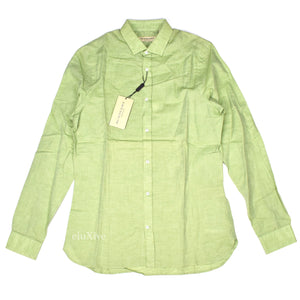 Burberry - Light Green Linen Blend Shirt