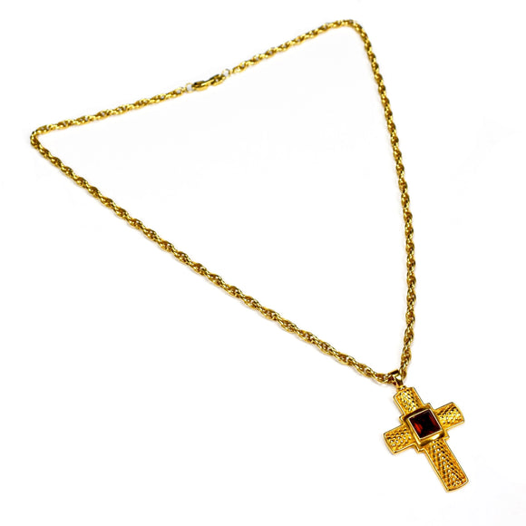Givenchy - Gold Cross Pendant Necklace