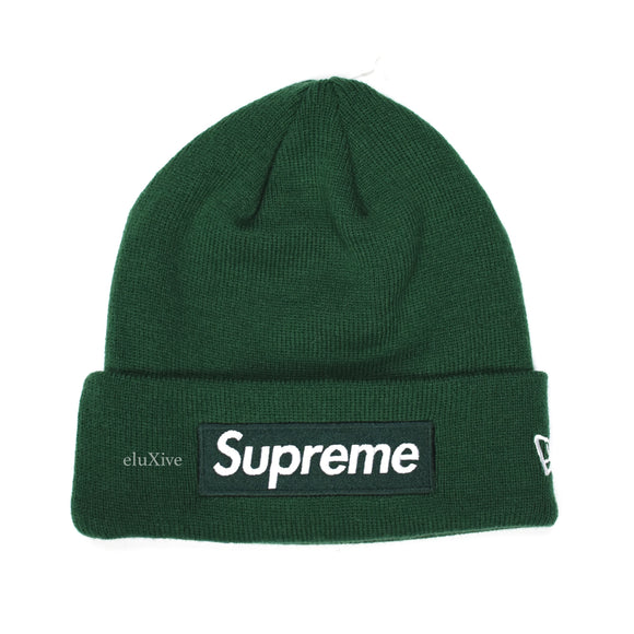 Supreme x New Era - Dark Green Box Logo Beanie