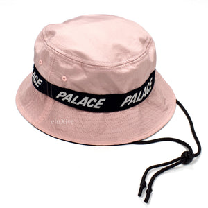 Palace - Storm Shell Logo Bucket Hat (Pink)