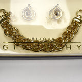 Givenchy - Gold Chain Bracelet & Earrings Gift Set