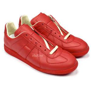 Maison Margiela - Red Leather GAT Sneakers