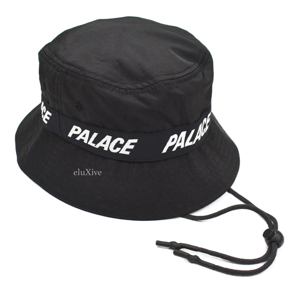 Palace - Storm Shell Logo Bucket Hat (Black)