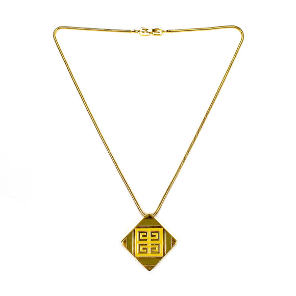 Givenchy - 1977 Runway Square Pendant & Chain