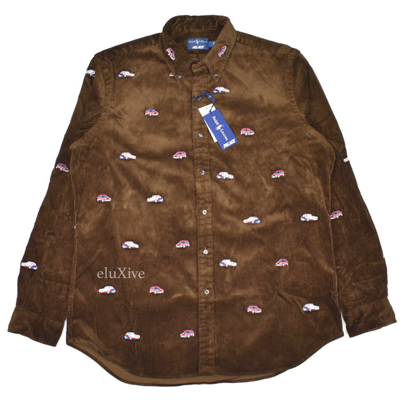Palace x Ralph Lauren - Brown Car Embroidered Shirt