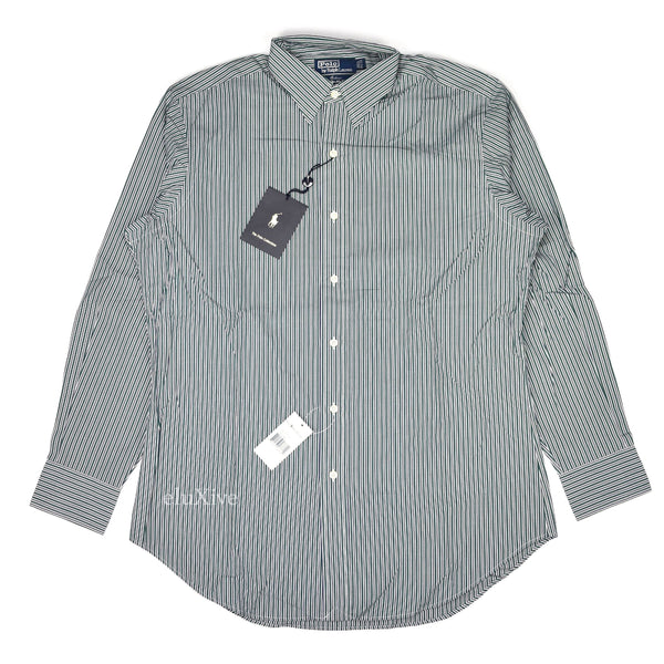 Polo Ralph Lauren - Green Striped Button Down Shirt