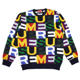 Supreme - Intarsia Knit BIg Letters Logo Sweater