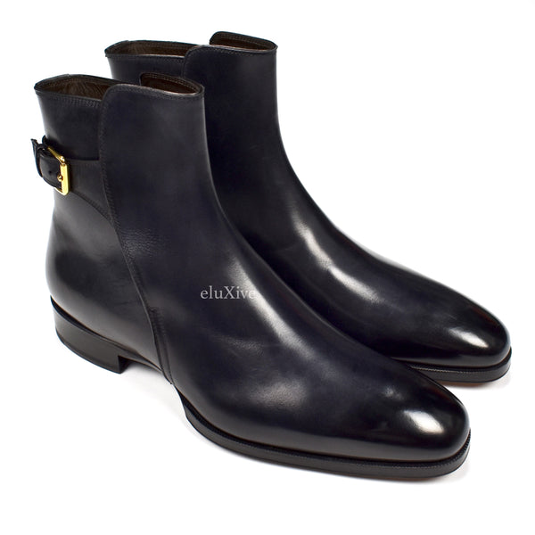Tom Ford - Black Leather Ankle Boots