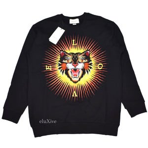 Gucci - Angry Cat Embroidered Sweatshirt