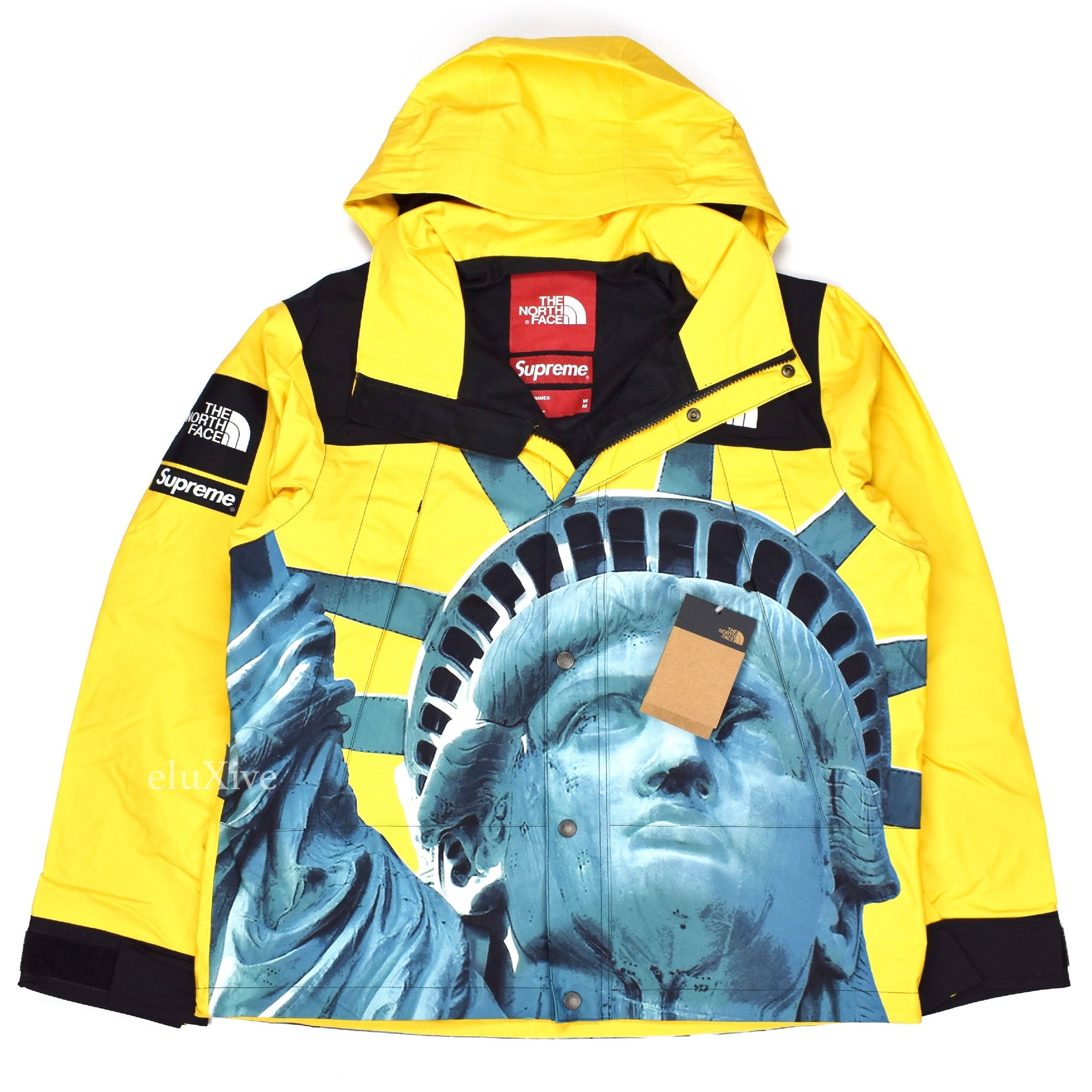 Supreme X The North Face Liberty Print Mountain Jacket Yellow