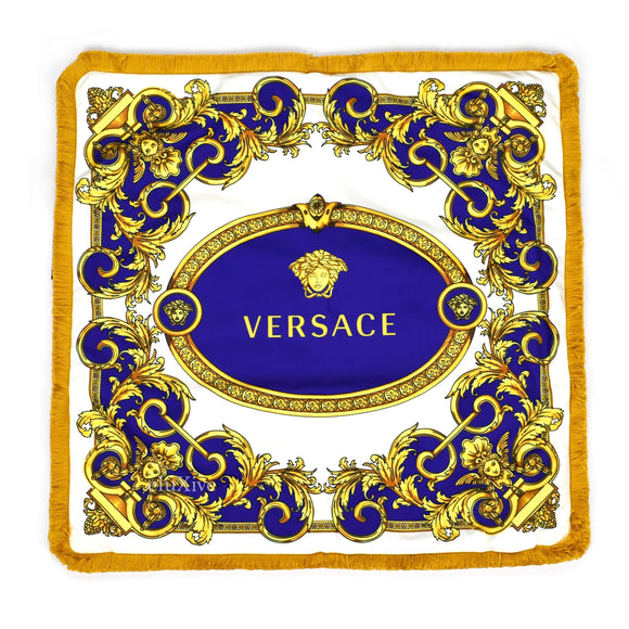 Versace - Blue Barocco Medusa Pillow Case