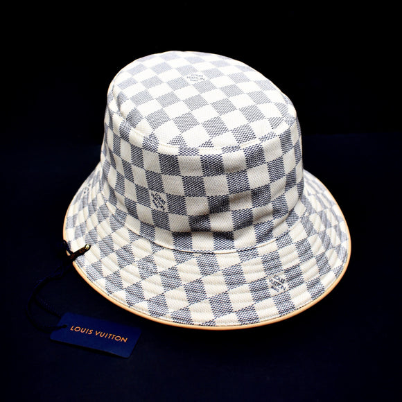 Louis Vuitton - Damier Azur Logo Bucket Hat
