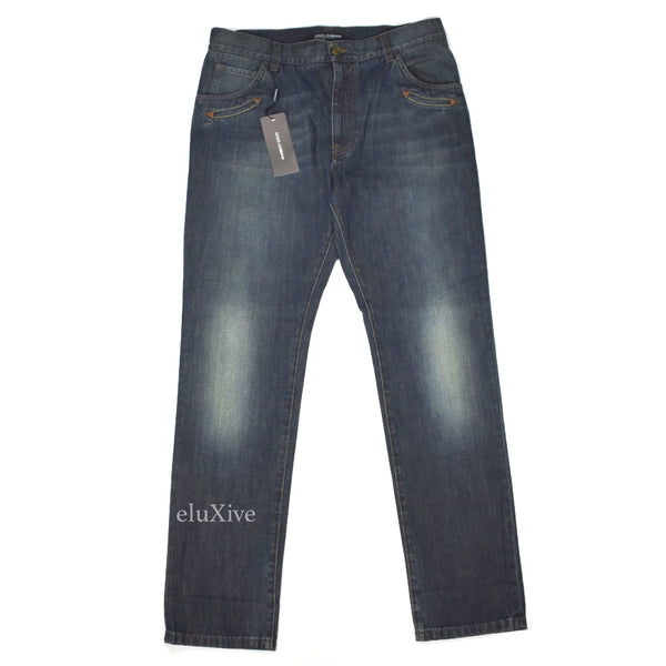 Dolce & Gabbana - Dark Blue Denim Jeans