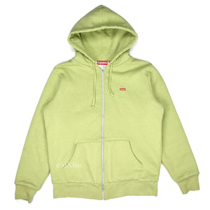 Supreme - Sage Green Box Logo Thermal Hoodie