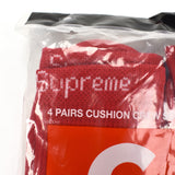 Supreme - Red Logo Knit Crew Socks (4-Pack)