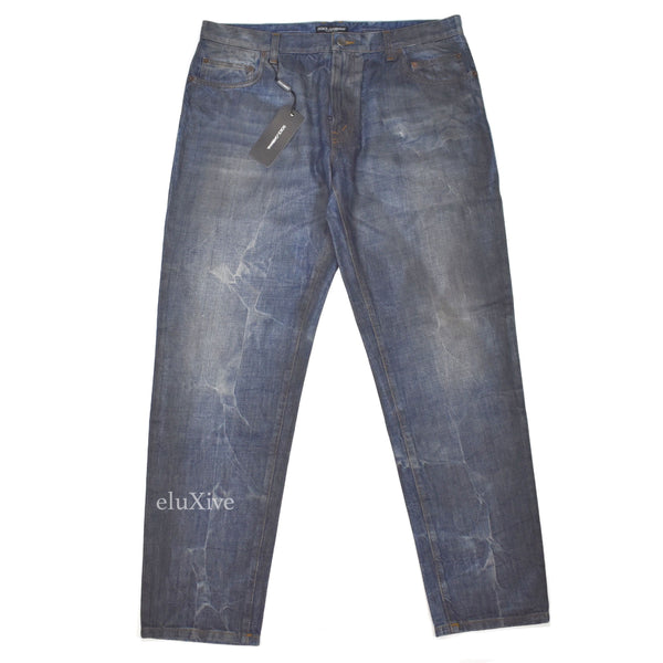 Dolce & Gabbana - Dirty Marble Effect Denim Jeans