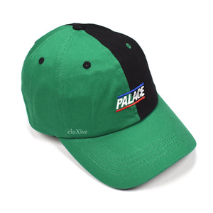 Palace - Green Split Logo Hat