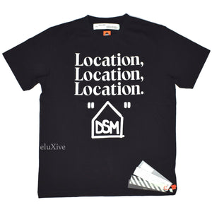 Off-White x DSM LA - 'Location' Logo T-Shirt (Black)