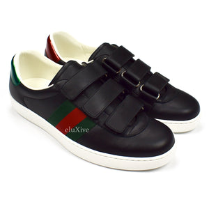 Gucci - Black Velcro Ace Sneakers