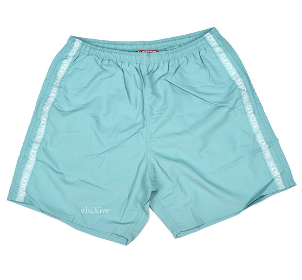 Supreme - Tonal Taping Logo Swim Trunks (Pale Green)