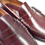 Carmina - Oxblood Leather Penny Loafers