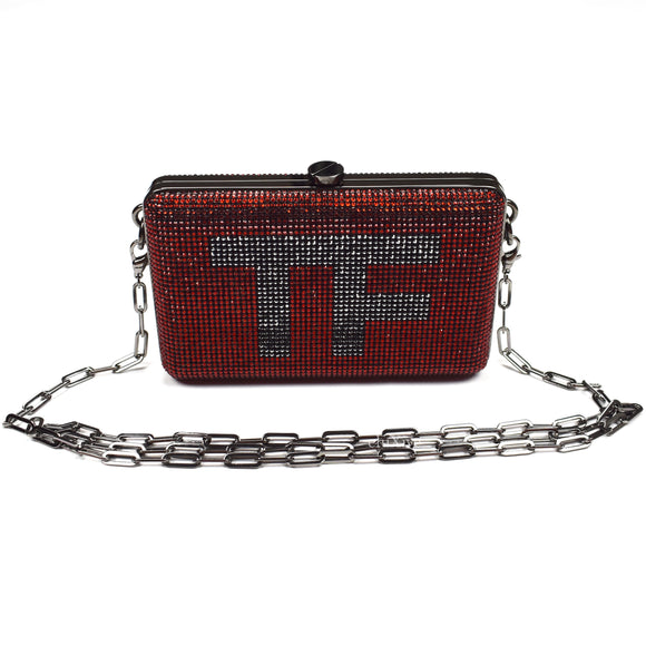 Tom Ford - Red Crystal TF Logo Clutch