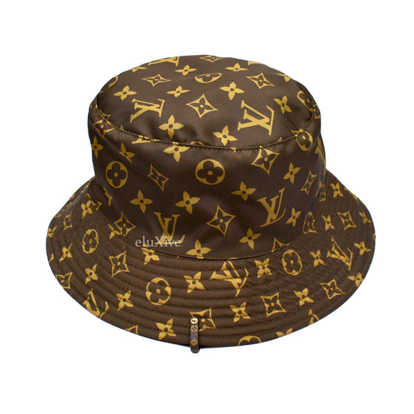 Louis Vuitton - Brown Monogram Reversible Nylon Bucket Hat