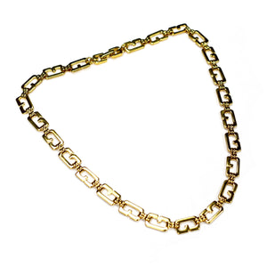 "Givenchy - 16.5"" Gold Logo Chain Necklace"