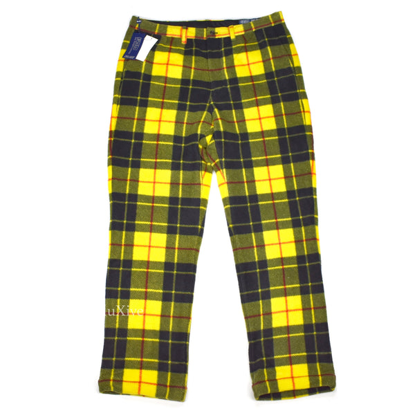 Palace x Ralph Lauren - Yellow Plaid Fleece Pants