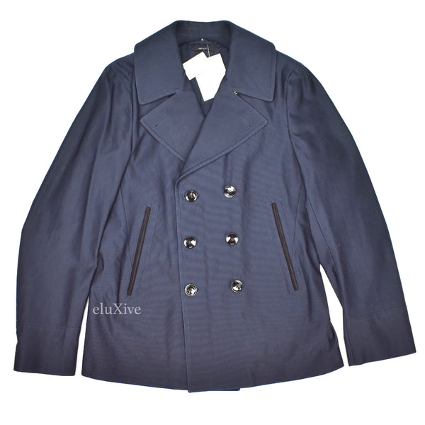 Tom Ford - Navy Ribbed Lightweight Peacoat