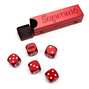 Supreme - Red Box Logo Aluminum Dice