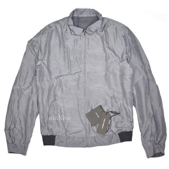 Dolce & Gabbana - Gray Reversible Silk Jacket