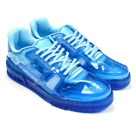 Louis Vuitton - Transparent Blue Trainer Sneakers