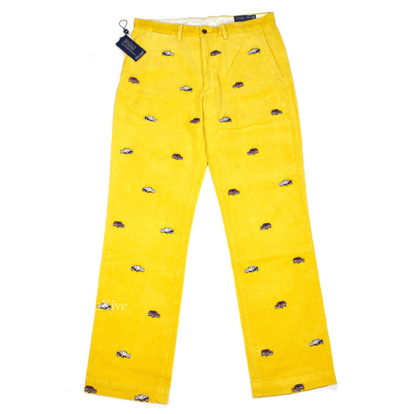 Palace x Ralph Lauren - Yellow Car Emboridered Pants
