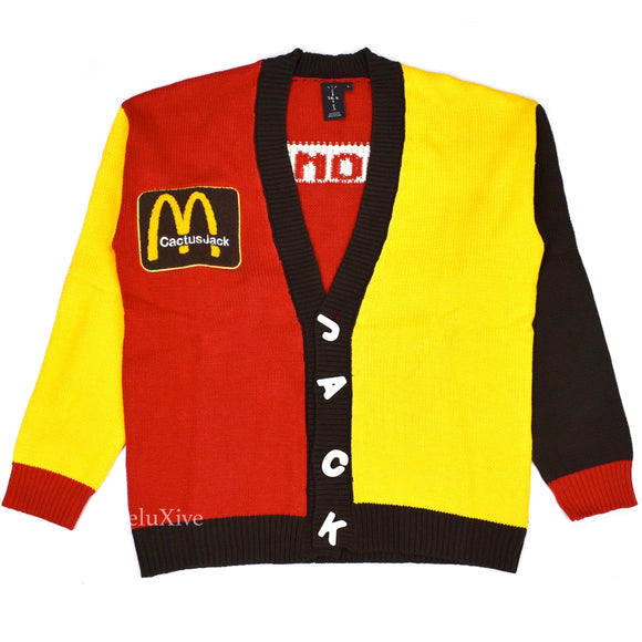 Travis Scott x McDonalds x CPFM - Color Blocked Cardigan