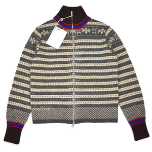 Dries Van Noten - Fair Isle Knit Zip-Up Sweater