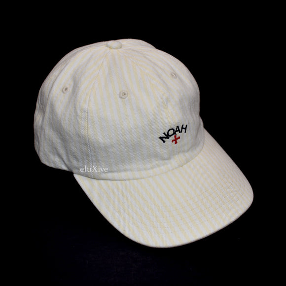 Noah - Striped Denim Core Logo Hat (Yellow)