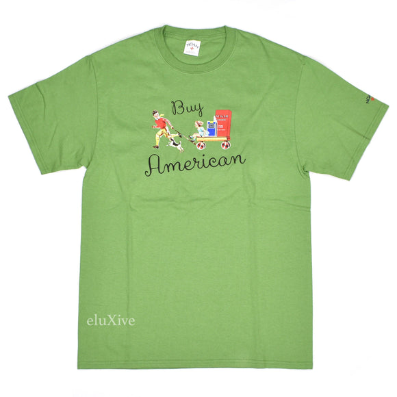 Noah - Buy American T-Shirt (Green)