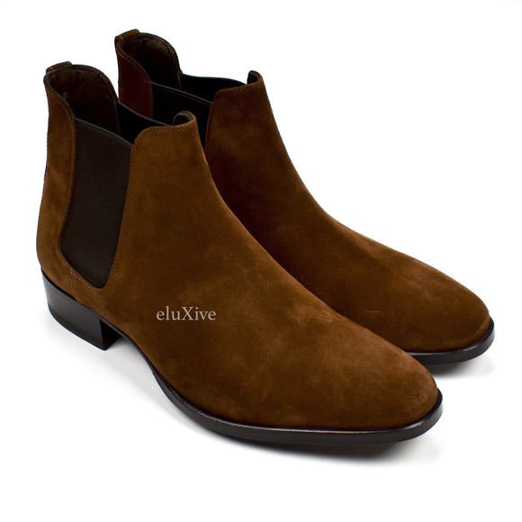Tom Ford - Brown Suede Chelsea Boots