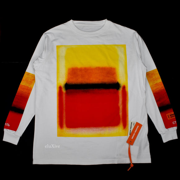 Heron Preston - Spraypaint 'Artwork' Print L/S T-Shirt