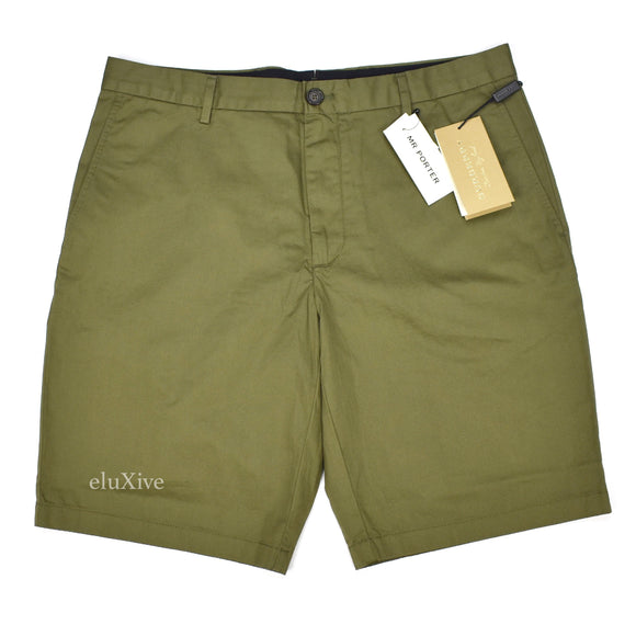 Burberry - Olive Green Cotton Shorts